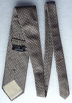 Polka dot tie Woven silk Daniel Hechter Brown
